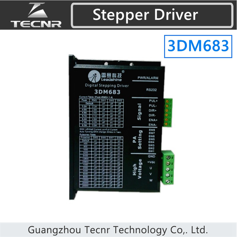 2 phase Leadshine 3DM683 stepper motor driver leadshine stepper motor driver 3dm 683 3 phase digital stepper drive max 60vac 8 3a