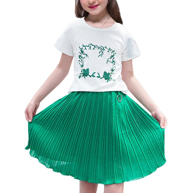 21e23a77a98 Girls Summer Dresses Baby Kids Casual Print Ruched Dresses Children Clothes  Cute Outfit Vestidos 6 8 10 12 Years Princess Dress