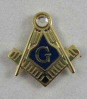 Wholesale Custom Pins Masonic Freemason 19mm Lapel Pin Blue Lodge, gift, brass material rhinestone lapel pin