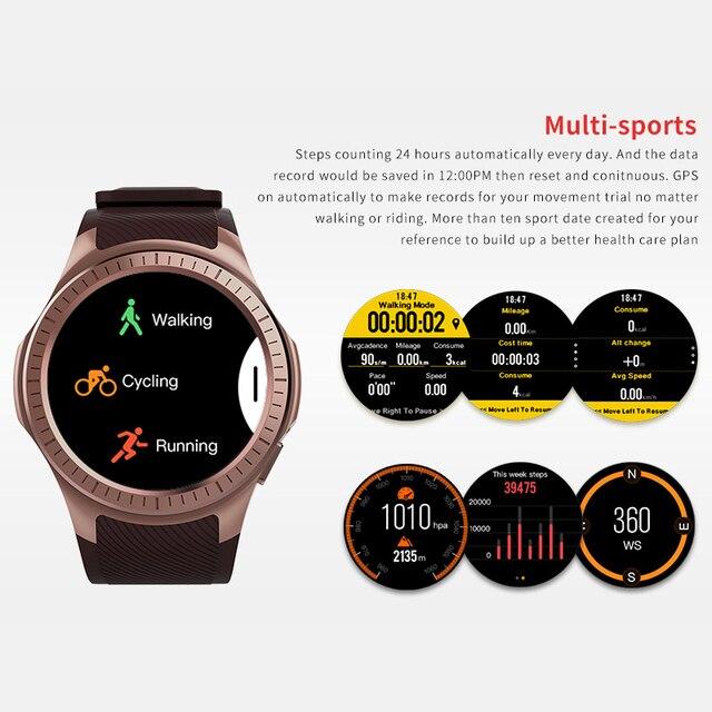 Microwear l1 relógio inteligente esportivo, para android ios mtk2503 frequência cardíaca 2g wi-fi bluetooth chamada 0.2m câmera cartão tf