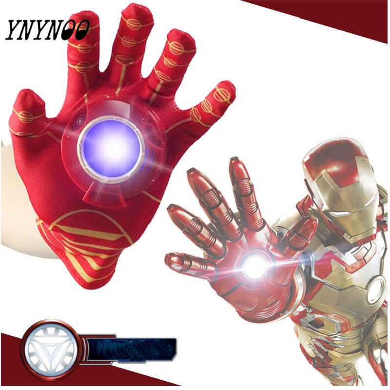 (YNYNOO)New iron Man Glove Action Figure Spider-Man launchers Toy Kids Suitable Spider Man Cosplay Costume music and LED light пластилин spider man 10 цветов
