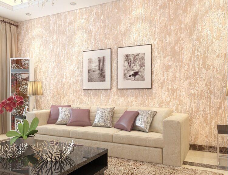 Simple Mottled Stripes Wall Paper Roll Epp Non Woven Cement Wallpaper Home Decor Retro Stone