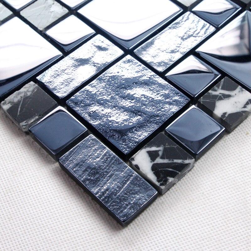 nero mattonelle della cucina-acquista a poco prezzo nero ... - Blu Piastrelle Del Bagno Mosaico