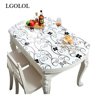 Oval Decorative Transparent Soft Glass PVC Plastic Environmentally Friendly Formaldehyde free Tablecloth Home Textile Placemat