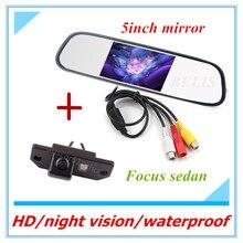 Envío libre cámara del estacionamiento al que invierte la cámara de vista trasera del coche ford cámara de visión trasera Para Ford Focus (3)/2008/2010 con 5 pulgadas