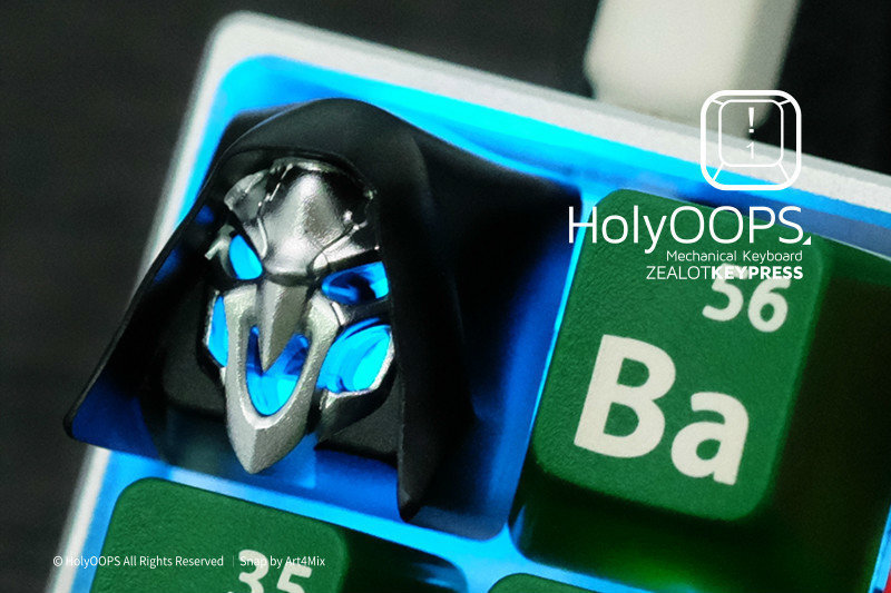 1pc HolyOOPS Mechanical Keyboard Aluminium Alloy key cap Full Metal key caps for Overwatch Death Translucent