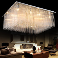 Z Rectangle Luxury Crystal Hall Large Ceiling Lamp LED Creative Sitting Room Restaurant Pendant Light Engineering