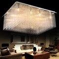 Z Rechteck Luxus Kristall Halle Großes Deckenleuchte LED Kreative Wohnzimmer Restaurant Pendelleuchte Ingenieurwesen Innen Lampe-in Deckenleuchten aus Licht & Beleuchtung bei