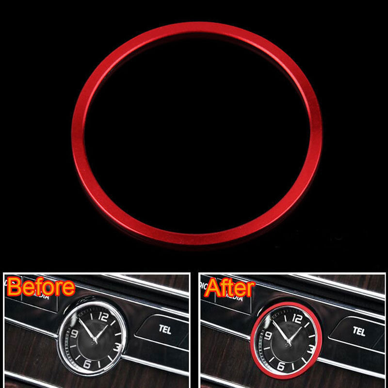 Car-styling Center Console Clock Watch Ring Cover Trim For Mercedes Benz C Class W205 2015-16 E Class W213 2017 Car Accessories