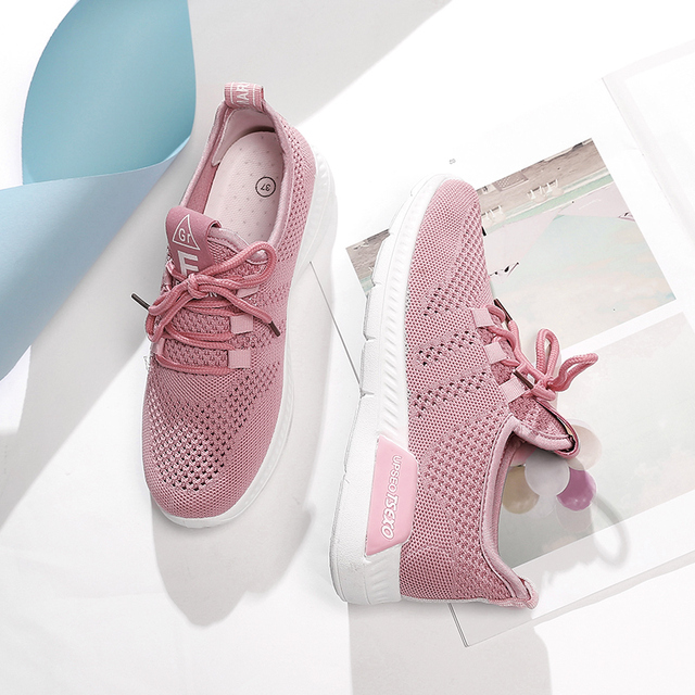 ecef3db4dda Air Mesh Women Casual Shoes Breathable Tenis Feminino Lace Up Outdoor  Leisure Shoes Lightweight Woman Sneakers Soulier Femme