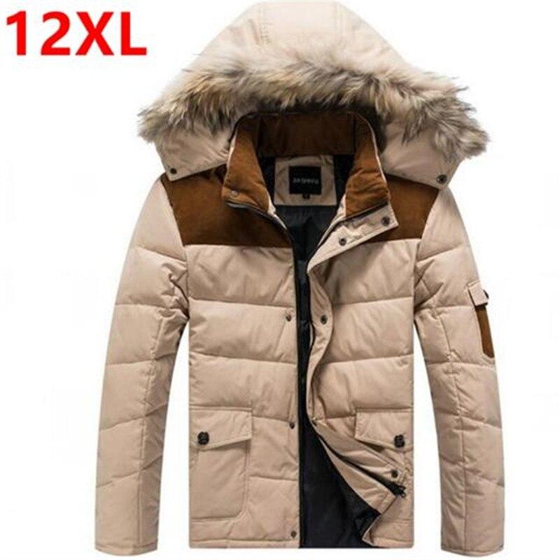 Livraison gratuite plus la taille D'hiver vers le bas les gens de Graisse hommes de vêtements vers le bas manteau d'hiver veste hommes duvet de canard 11XL 10XL 9XL 7XL 8XL