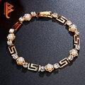 BELAWANG Nueva Joyería de Moda Brazalete de Perlas de Imitación Pulseras y Brazaletes para Las Mujeres Plateó Los Encantos de Pulseras de Cristal para Las Mujeres