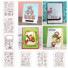 New Design 2018 Mixed Transparent Clear Silicone Stamp Set For DIY Scrapbooking/Photo Album Cards Making Decorative Clear Stamp