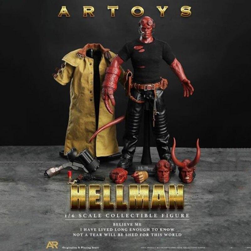 1/6 échelle Hellman HellBoy Anung Un Rama homme garçon 12 'figurine d'action Collections jouets cadeaux ensemble complet figurine d'action W 3 têtes