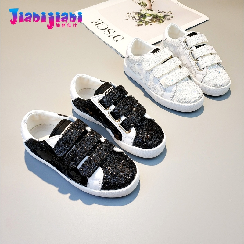 3-12T New Autumn Children Student Blinking Boys Sport Shoes Flats Girls Run Casual Shoes Toddler Kids Real Leather Sneaker 9767