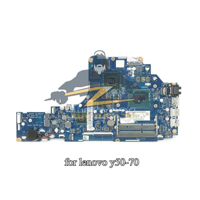 NOKOTION ZIVY2 LA-B111P For Lenovo Y50-70 Laptop Motherboard I7-4720HQ CPU  GTX960M 4G DDR3L