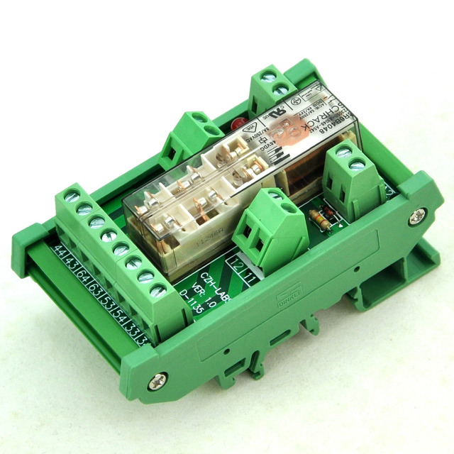 DIN Рейку Реле Безопасности Модуль, 48 В AC/DC, TYCO SR6B4048, 4PST-NO DPST-NC.