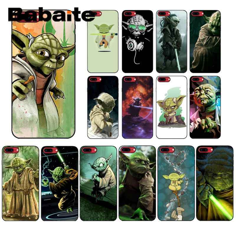 Babaite YODA de star wars Silicone Macio TPU Tampa Do Telefone para o iPhone Da Apple 8 7 6 6 S Plus X XS MAX 5 5S SE XR Tampa