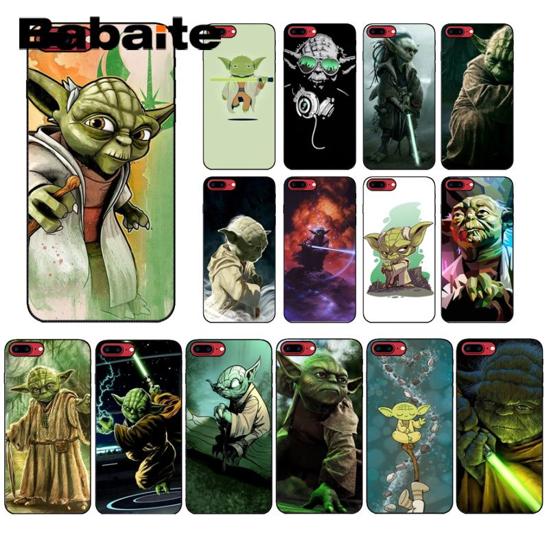 Babaite YODA <font><b>star</b></font> <font><b>wars</b></font> Soft Silicone TPU Phone Cover for Apple <font><b>iPhone</b></font> 8 <font><b>7</b></font> 6 6S Plus X XS MAX 5 5S SE XR Cover image