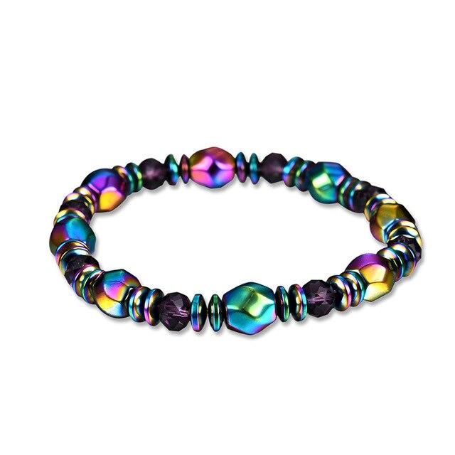 Модные браслеты с бусинами из натурального камня для мужчин