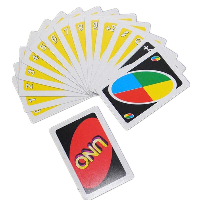 Весело один пакет Семья забавные Развлечения Настольная Игра Uno карты покер Фишки для покера набор карт Логические игры 108 шт. подарочная ко... ...