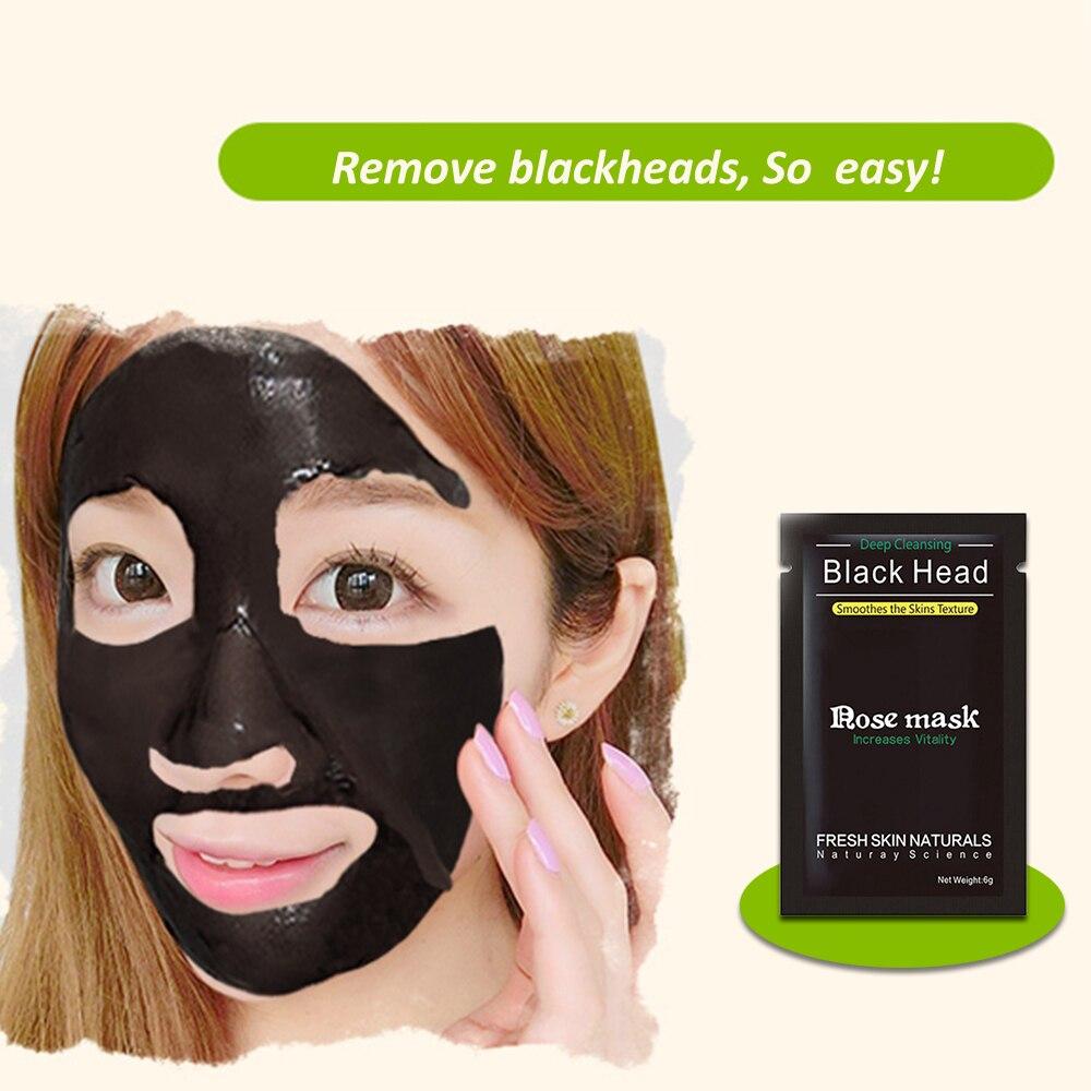 Face Skin Care Suction Black Mask Nose Blackhead Remover Acne Treatment Mask Peeling Peel Off Black Head Mud Facial Mask  Shills #1