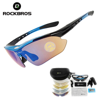 ROCKBROS Polarized Hiking Eyewears Sunglasses Windproof Goggles Fishing Sports Glasses Men Women Climbing Camping 5 Lens