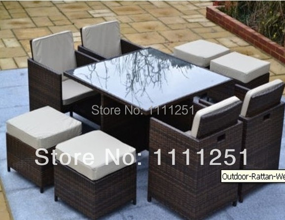 2017new Wicker Outdoor Furniture Setting Garden Deck Bbq Dining Table And Chairswith A Locker In Sofas From On Aliexpress Alibaba