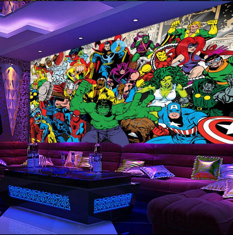 Benutzerdefinierte 3D wandbilder, Amerikanischen comic mode wand ...