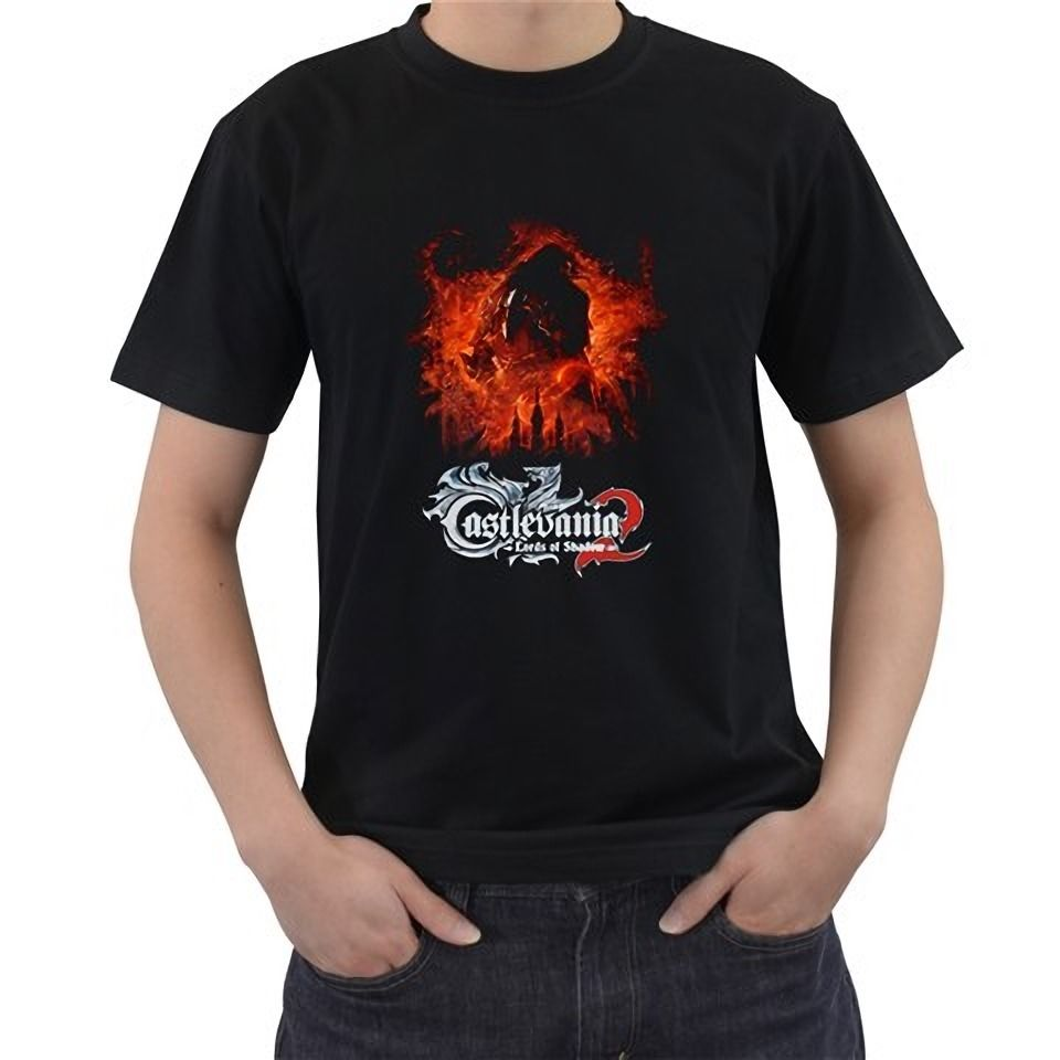 New Castlevania Lords Of Shadow Video Games Black Mens T-Shirt Size Tees Brand Clothing Funny T-Shirt top tee