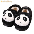 Winter Kids Slippers Boys Girls Household Cotton Shoes Wooden Floor Indoor Home Baby Warm Cute Panda Slippers Children Shoes