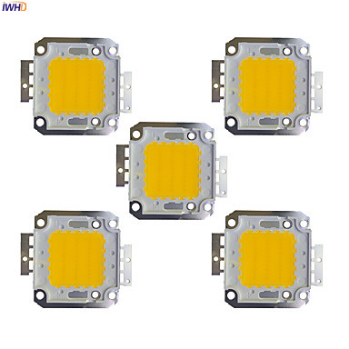 Lights & Lighting Special Section Iwhd 5pcs Diy 20w 30w 50w Led Chip Diode Lamps For Led Flood Light Spotlight Input 30-36v Aluminum
