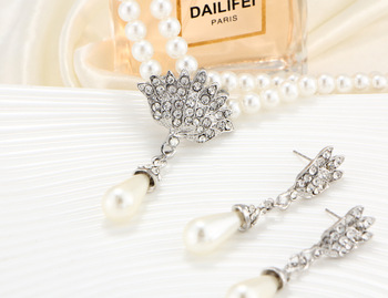 European and American Pearl crystal temperament jewelry Set 5