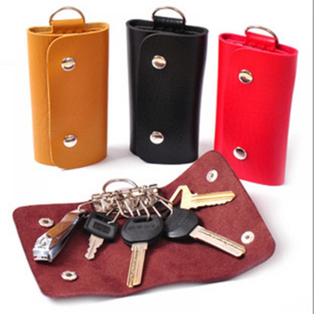 Hot Sale PU Leather Housekeeper Holders Car Keychain Key Holder Bag Case Wallet Cover Key Chain Accessory Key Holder