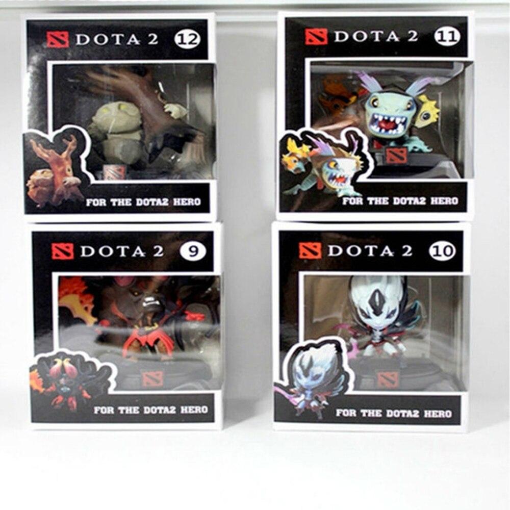 4 pièces/ensemble Wow Dota 2 figurine SLARK DOOM VS minuscules 5-8 cm figurines en PVC en boîte jouet