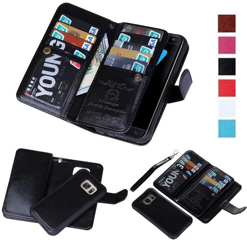 ZE520KL Ranuras para Tarjetas Abatible de Cuero auténtico tipo billetera Cases Covers Para Asus Zenfone 3