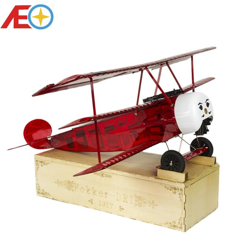 Versão PNP Balsawood acabado Modelo de Avião Fokker DRI de Corte A Laser de Energia Elétrica 770 milímetros Envergadura modelo Woodiness/AVIÃO DE MADEIRA