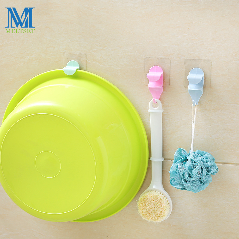 Dustproof Washbasin Holder Rack Bathroom Kitchen Door Wall Suction Hook Hanging Organizer Storage Holder For Towel Basin Hanger
