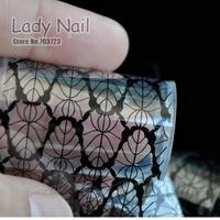 100cm*4cm Black Lace Paper-cut Style Transfer Foil Nail Art Stickers Nail Tool Glue Polish DIY Decals Nails Manicure Tools 214
