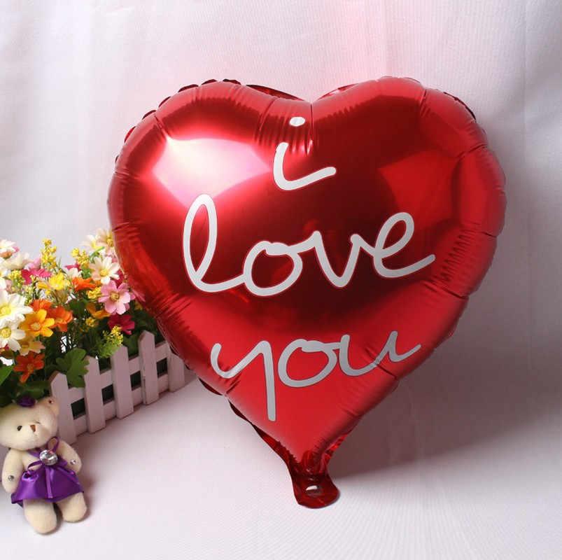 1 pieza amor te amo globos de papel de aluminio decoración de boda globos de aire inflable evento y suministros decorativos para fiestas