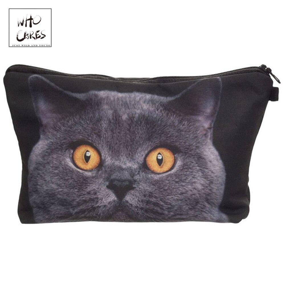 British Shorthair Cat Makeup Bags
