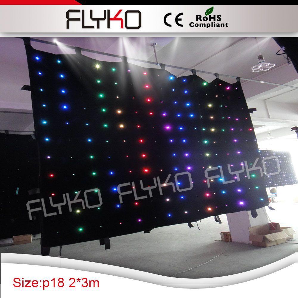3x2 м Бесплатная доставка светодиодный Шторы, 2 м, 3 м, автоматическое управление, foorproof, 176 шт. светодиодный, для ди Джея, свадьба, для сцены, вечерние