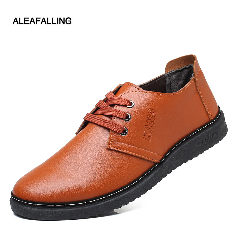 15b5d02bd963 Hommes Classique Automne Nouveau Ca21 marron Masculine Casual Noir Mode Confortable  Chaussures Marque Plat Aleafalling Ix56q4x