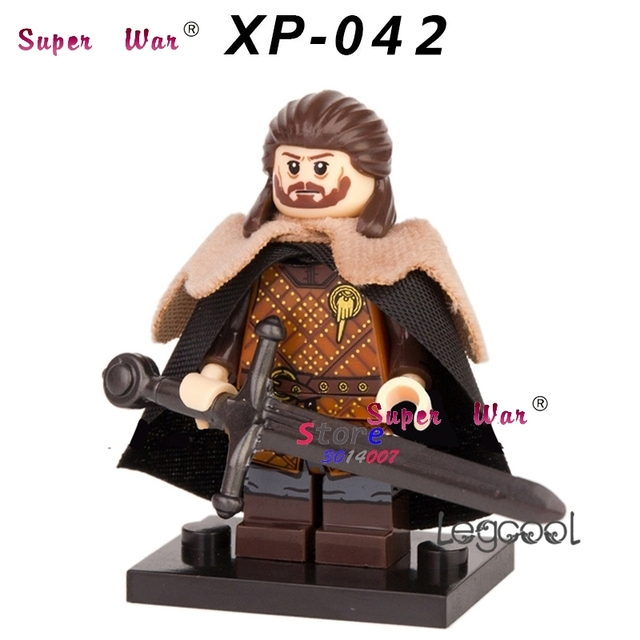 1PCS model building blocks action figures starwars superheroes Eddard Stark Game of Thrones Collected diy toys for children gift