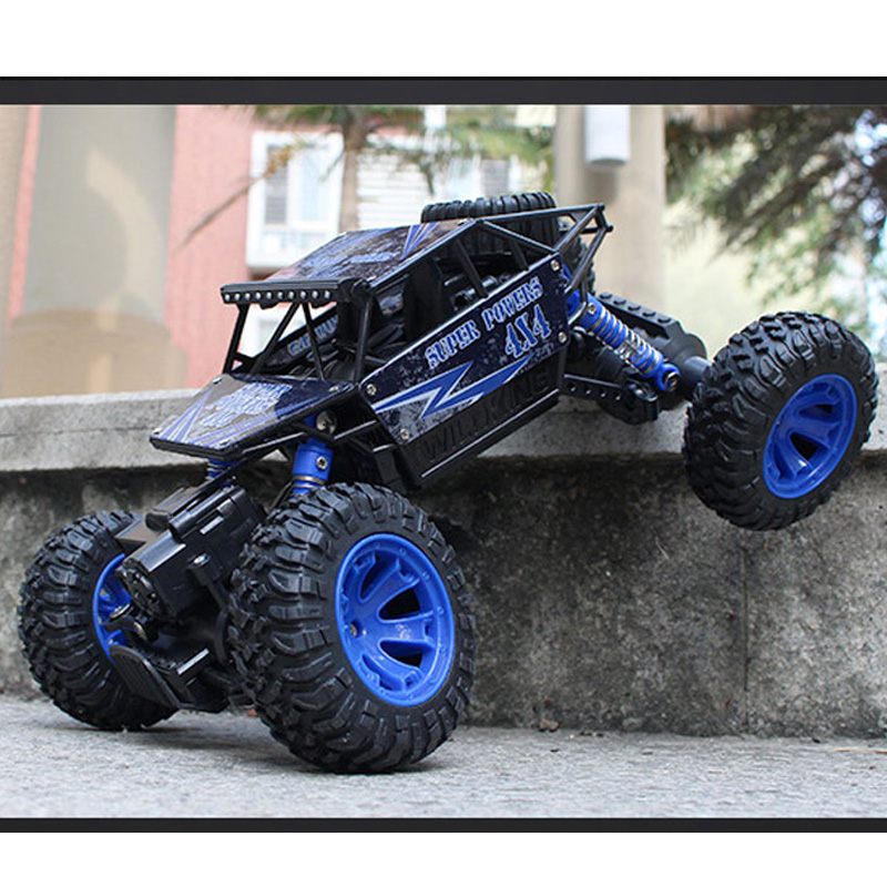 все цены на Large 1:16 4WD RC Cars Updated Version 2.4G Radio Control RC Cars Toys Buggy 2017 High speed Off-Road Trucks Toys for Children онлайн