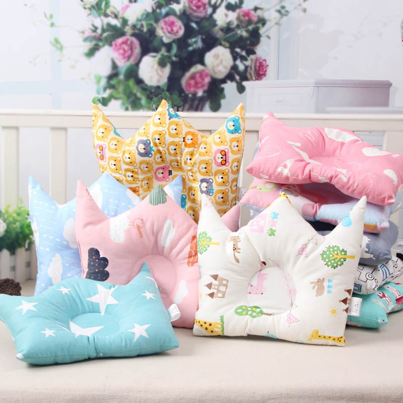 Cute Cartoon Cotton Anti-migraine Pillow Concave Adorable Kids Baby Shape Memory Pillows