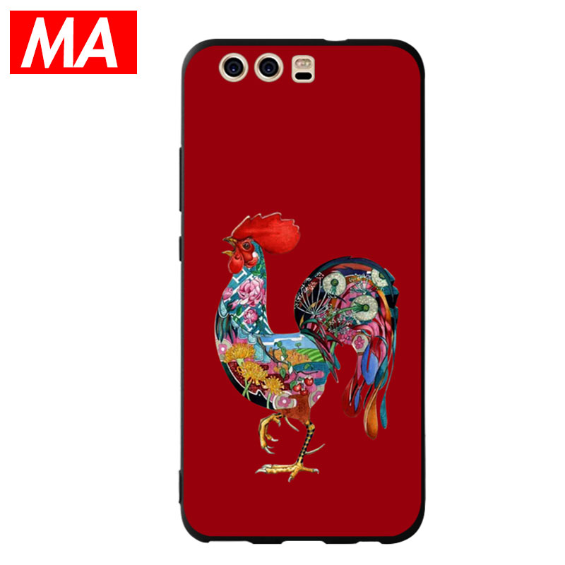 MA The Colorful Rooster Phone Case For Huawei P8 lite 2017 P9 P10 P20 Lite Plus Nova Honor 6C 6A 6X Honor 8 Honor 9 Mate 10 lite