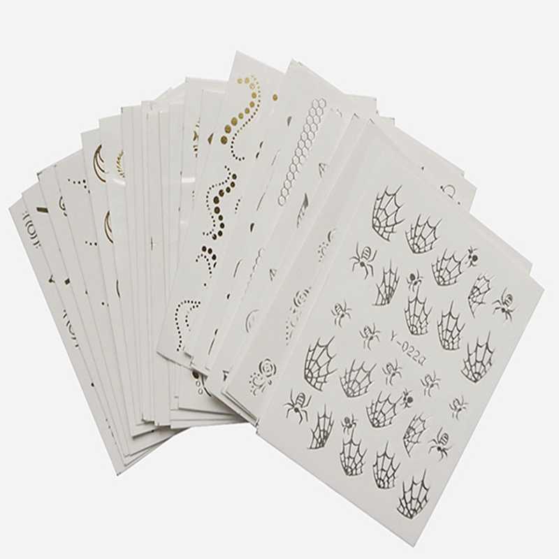 30 ชิ้นเล็บสติกเกอร์น้ำดอกไม้ออกแบบรูปลอกสำหรับตกแต่งเล็บเล็บเล็บ