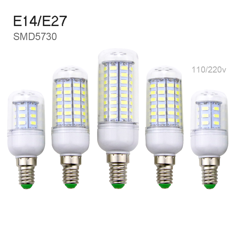 E27 LED Corn Bulb E14 SMD5730 24 36 48 56 69 72 LEDs 220V Corn Lamp Chandelier Candle Light For Home Decoration 240 Ampoule