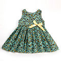 Hot Summer 2016 Girls Dresses Fashion Cotton Toddler Girl Dresses Cute Sleeveless Christmas Thanksgiving Dress Kids Dress